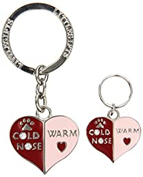 LittleGifts Cold Nose/Warm Heart Keychain and Collar Charm