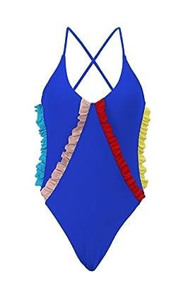 ZINPRETTY Womens Swimsuit One Piece Bathing Suits Retro Ruched Bikini Swimwear Monokini for Women