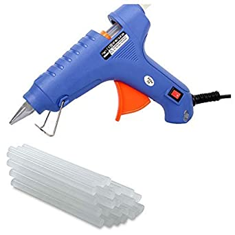 Wadro Glue Gun Blue Colour 60 Watt With 15 Hot Melt Glue Sticks (15Pc, Blue) for Plumbing Fixtures