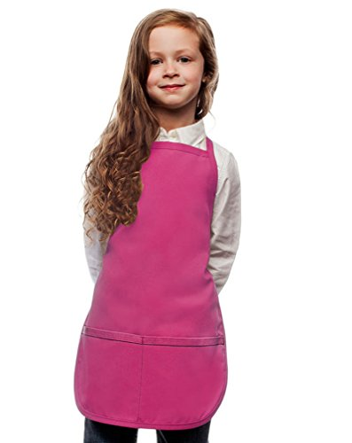 Hot Pink Toddler Art Smock, Apron, Regular, Poly/Cotton Twill Fabric by My Little Doc