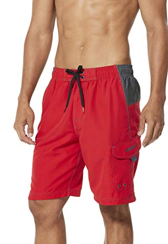 117859e976 Speedo Men's Sport Volley Shorts Workout & Swim Trunks, Atomic Red/Heat,  Large