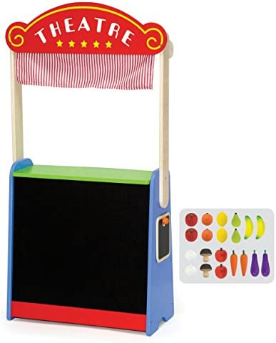 Viga Toys - 50949 - Jeu D'imitation - Commerçant - Théâtre Et Marchande En Un