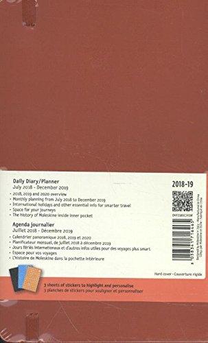 Moleskine DHF218DC3Y19 - Diario 18m grande de tapa dura, color rojo escarlata