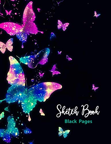 Sketch Book Black Pages: 110 pages of 8.5