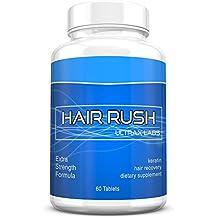 Ultrax Labs Hair Rush | Maxx Hair Growth & Anti Hair Loss Nutrient Solubilized Keratin Vitamin Supplement