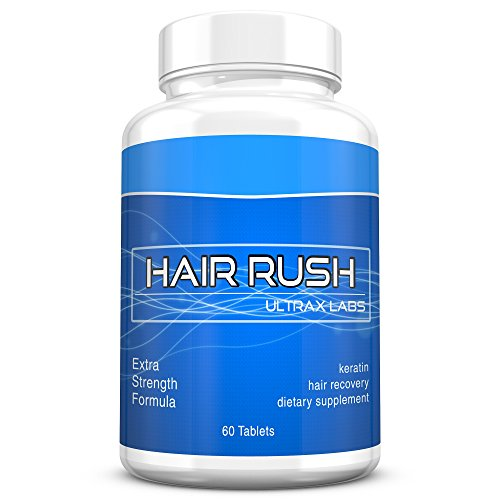 Ultrax Labs Hair Rush | Maxx Hair Growth & Anti Hair Loss Nutrient Solubilized Keratin Vitamin Supplement, 60 - Care Lotion Head Complete