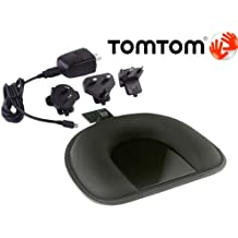 TOMTOM ORIGINAL OEM DASHBOARD MOUNT & USB CABLE HOME CHARGER AC ADAPTER KIT W/INT'L CONNECTIONS FOR TOMTOM GPS NAVIGATORS. COMPATIBLE WITH TOM TOM ONE 125 130 140 145 S XL 325 330 335 340 350 355 S XXL 535 540 550 TM T WTE GO 520 530 540 550 620 630 640 720 730 740 750 920 930 940 950 1000 1005 SE TM LIVE PRO EASE START GPS NAVIGATOR (PN 9A00.280 / 9.UUB.052.01)