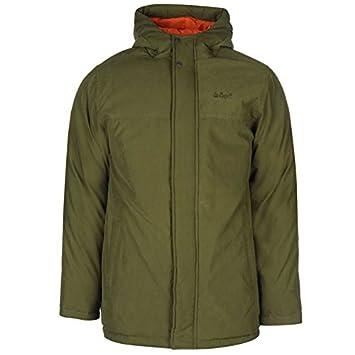 Lee Cooper Basic Parka chaqueta para hombre caqui chaquetas abrigos Outerwear, caqui, medium: Amazon.es: Deportes y aire libre