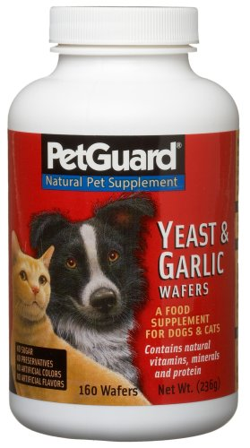 Pet Guard Yeast & Garlic Supplement for Dogs & Cats, 160-Count Wafers (Pack of 3)