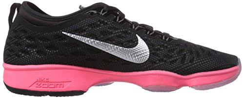 Nike Damen Zoom Fit Agility Low Top Schnürrunning Sneaker schwarz