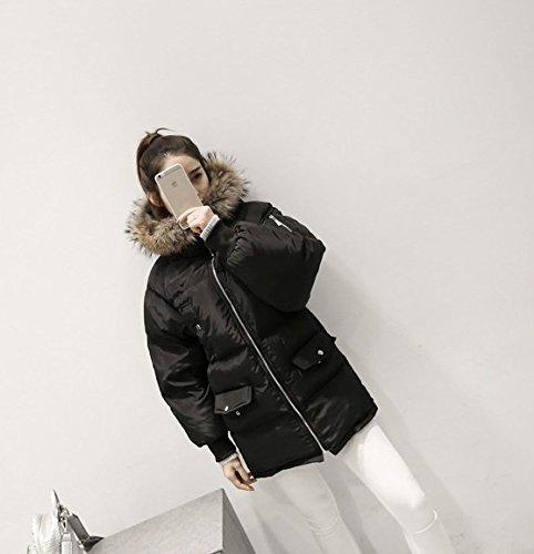 Xuanku damen Lose Feder Baumwolle Kleid Frauen Langer Abschnitt Der Echten Haaren Kragen Mit Kapuze Baumwolle Jacke Jacke