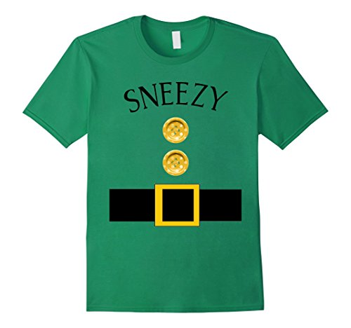 Mens Cute Sneezy Halloween Group Costume T Shirt | Team Tees Medium Kelly Green