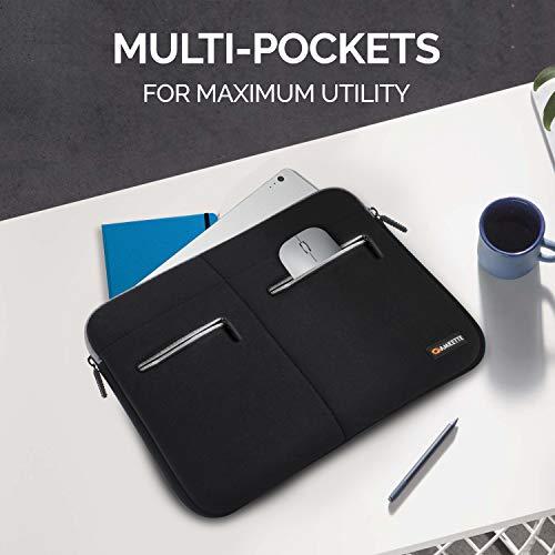 "Amkette Neo Case Multi Pocket Laptop Sleeve for 13-inch MacBook Pro and 13"" - 13.3"" Laptops & Ultrabooks (Black - Grey) (13.3 inch)"