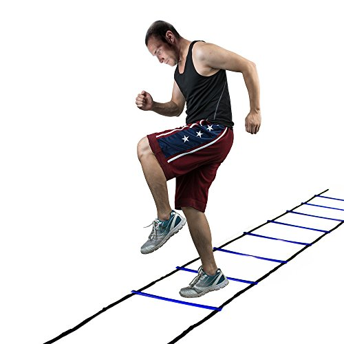 AGPtEK® Durable 4-Meter 8-Rung Agility Ladder for Soccer, Speed, Football Fitness Feet Training
