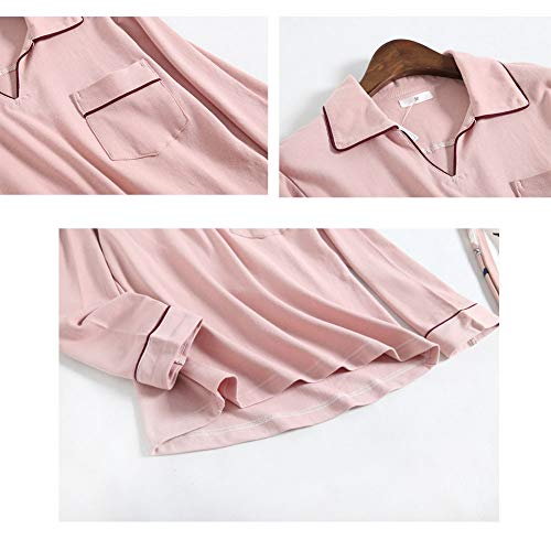 Algodón Hogar Cómodo Cálido De Pink El Conjunto Pijamas Estampado Mujer Para En Servicio Tops Y Zanzan gSTqzx