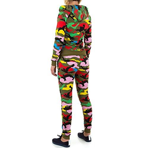 2 Teiler Camouflage Freizeit Overall Für Damen , Khaki In Gr. S bei Ital-Design