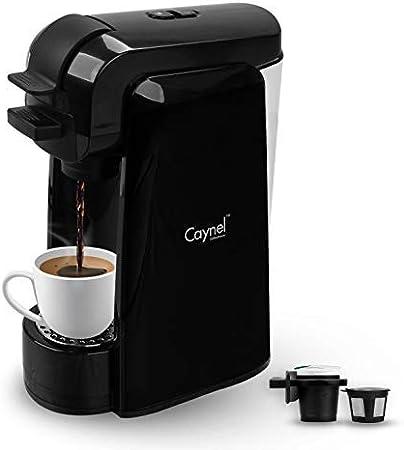 Caynel Cafetera de una sola porción, máquina de café para la mayoría de cápsulas individuales incluyendo