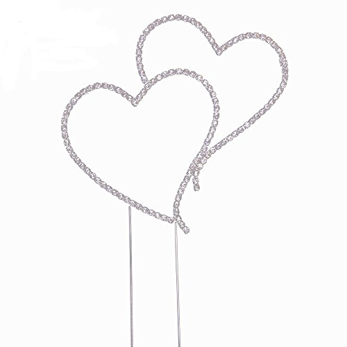 Two Linked Heart Romantic Cake Topper by Grinde NO