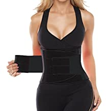 Workout Waist Trimmer Belt for Men and Women - Pro Fitness Trainer Quality - Provides Back Support While Burning Belly Fat - Fully Adjustable - Helps Promote Weight Loss While Slimming Your Abs Pink S