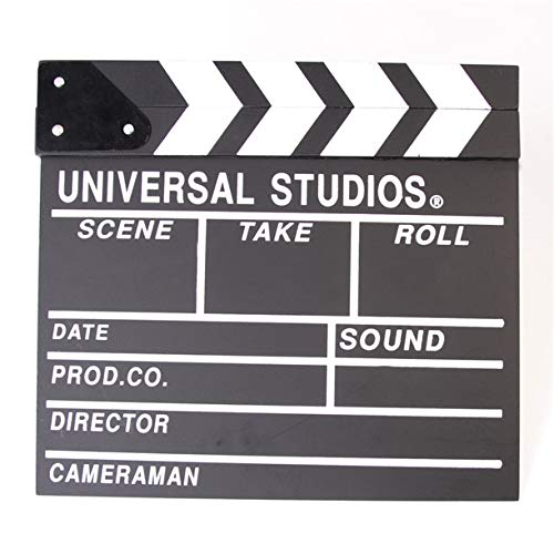 11.8x10.6 Hollywood Filming On The Spot Clapper Board Filmmaking Movie Clapboard Accessory with Black /& White Runshuangyu Classic Movie Film Clap Board