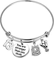 UJIMS Birthday Bracelet Gifts for Her Inspiration Birthday Jewelry Birthday Cake with Charm 10th 13th 16th 18t