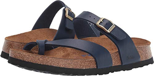 Navy Blue Sandals - Birkenstock Betula Licensed Women's Mia Soft Navy Birko-Flor¿ 41 N EU