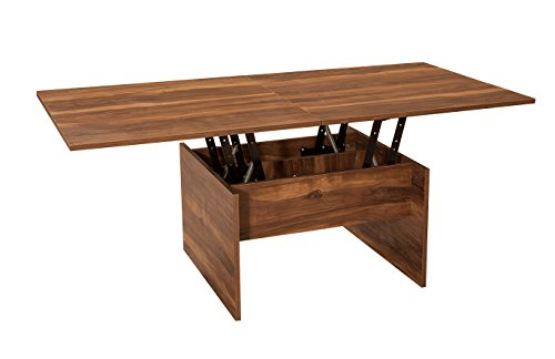 Karizma Lift-Top Coffee Table by Turnada: Brown Coffee Table Lift Up| Sturdy, Stable & Space Saving Living Room Lift Top Coffee/Dining Table|Modern Contemporary Dining, Computing & Crafting Furniture