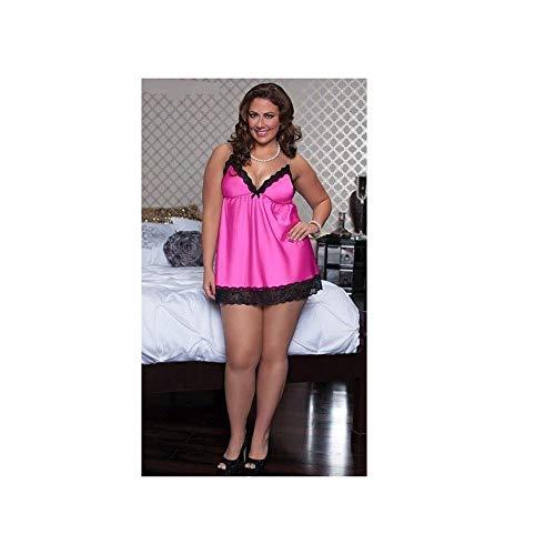 Dress Moda Plus Lace Ladies Rosy Costume Sexual Nightwear fRq8p