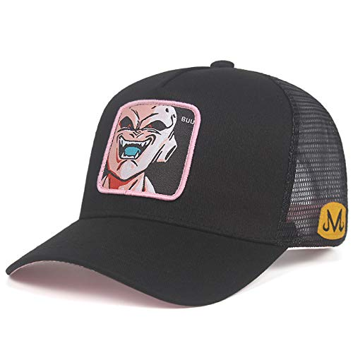 Hat-Dragon-Ball-Z-Baseball-Cap-Trucker-Mesh-Goku-Buu-Vegeta-Kame-Gohan Adjustable Black Dad Hat Hip Hop Hat (Dragon Ball Z Majin Vegeta Vs Majin Buu)