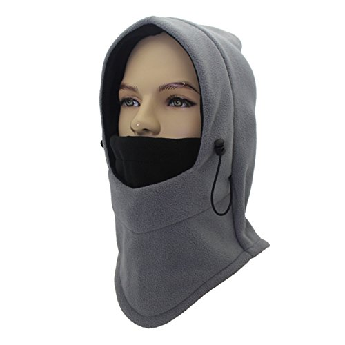 Cold Weather Masked Fleeces Hat Face and Neck Mask Warm Cap Outdoor for Unisex (C6)
