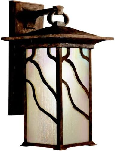 Kichler 9031DCO, Morris Cast Aluminum Outdoor Wall Sconce Lighting, 100 Watts, Distressed Copper