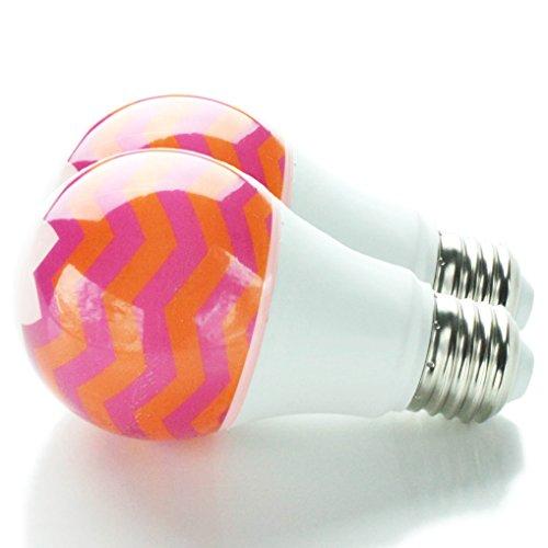 Huevee | Peach Perfect LED ~ Decorative Light Bulb | 40/60 Watt Replacement (2pk) -