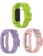"""Tencloud Vervangende riemen compatibel met Fitbit Ace 2 riem, zachte siliconen flexibele polsbandjes armband voor Ace 2 Activity Tracker voor 4.6 """"-7.1"""" maat"""