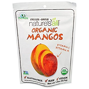 Organic Mangos Raw Dried Fruit 1.50 Ounces (Case of 12) by Nature's all