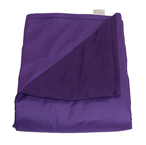 "Weighted Blankets Plus LLC - THE ONLY APPROVED MANUFACTURER AND SELLER - Medium Weighted Blanket - Purple - Cotton/Flannel (58""L x 41""W) (12 lbs for 110 lb person)"