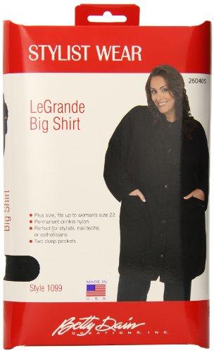 Betty Dain Le Grande Big Shirt, Black (Betty Dain Shirt Big)