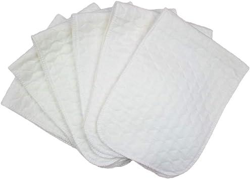 SUPVOX 10Pcs Tres capas de pañales que cambian almohadilla de pañal de algodón funda lavable para bebés recién nacidos (blanco): Amazon.es: Salud y cuidado personal
