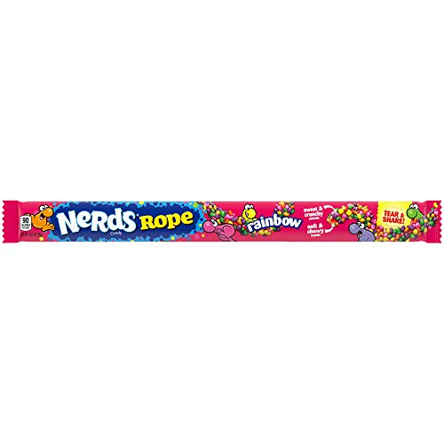 Nerds Rope Rainbow Candy, 0.92 Ounce Package, 24 Count, Pack of 1