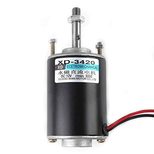Electric DC Motor, 30W Permanent Magnet High Speed Motor CW/CCW Adjustable Speed Motor Low noise for DIY Generator New(12v 3000rpm)