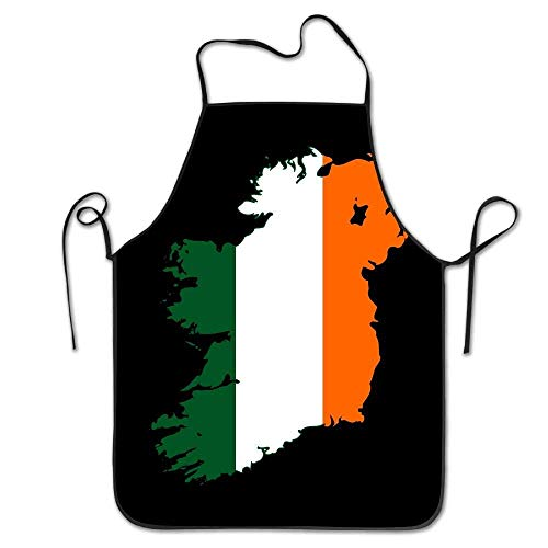 - amiuhoun Flag-map Of United Ireland Women Men Kitchen Bib Apron Bakery Tea Shop With Adjustable Neck Chef's Apron