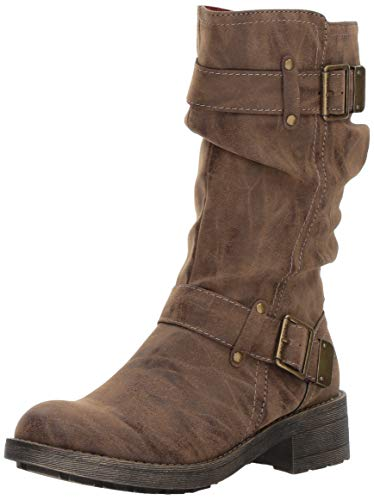 Rocket Dog Women's Trumble Heirloom PU Mid Calf Boot, Brown, 11 M - Boots Slouch