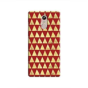 Cover It Up - Gold Triangle Tile Gionee S6s Hard Case