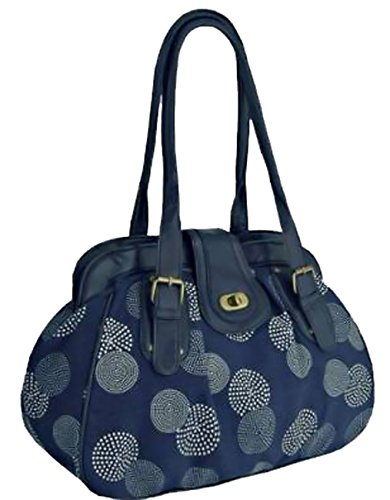Eyecatchbags - Borsa A Tracolla In Lino Chloe A Tracolla Blu Navy