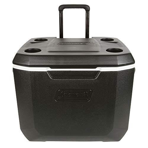 Coleman 50-Quart Xtreme 5-Day Heavy-Duty Cooler with Wheels, Black/Pack of 2 by Coleman (Image #1)