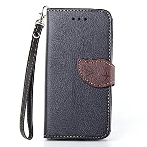 SOL Leaf Design PU Full Body Case with Stand with Card Slot for iPhone 6 (Assorted Colors) , Brown