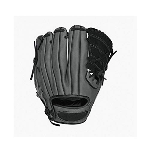 Fengshangshanghang Baseball Gloves, Baseball and Softball Gloves, Adult Hard Infield Leather Pitcher Baseball Gloves, Black (Size, 11 Inches) (Color : Black, Size : 11 inches)