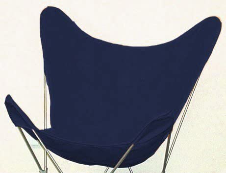 Coastal Casual Designs Butterfly Chair Replacement Covers Heavy Duty 14oz Cotton Duck Material Indoor Outdoor – Navy
