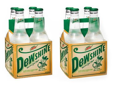 Mountain Dew Dewshine Made with Real Sugar Pack of 2 (8 Bottles)