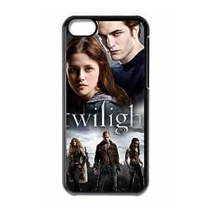Crepúsculo 006 iPhone 5C caso de la cubierta del teléfono celular Negro Funda EVAXLKNBC05846