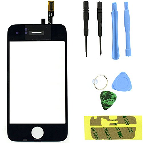 Iphone 3g Parts (For Apple iPhone 3G Cracked Lcd Glass Digitizer Touch Screen Replacement Part + Tools (Black))